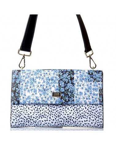 ROBERTO CAVALLI CLASS Shoulder bag Handbag Clutch Blue printme002