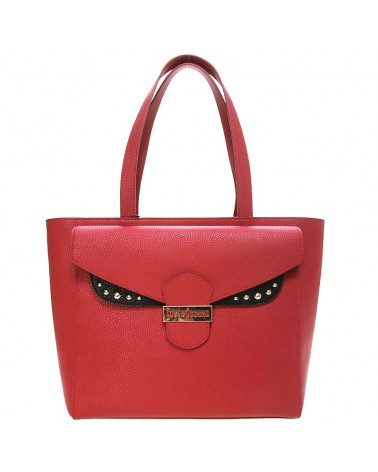 Love Moschino leather shoulder hand bag red and black JC4072 Tasche