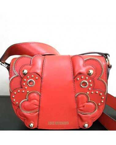 Crossbody bag Love Moschino red leather 4134