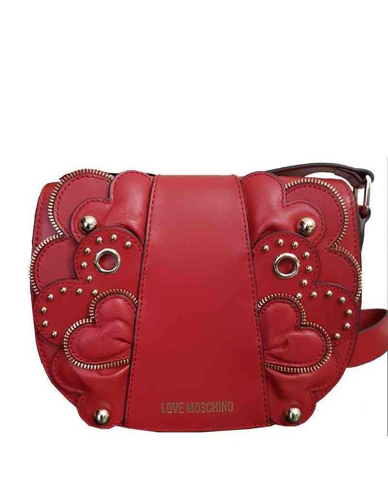 Love Moschino leather floral crossbody bag red JC4134 Tasche S/S-2018