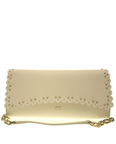 Clutch Shoulder bag ROBERTO CAVALLI CLASS beige leolace 002
