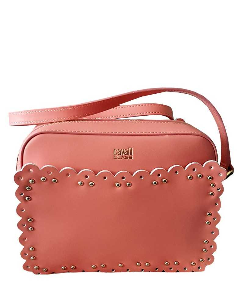 ROBERTO CAVALLI CLASS shoulder bag crossbody peach pink leather tasche Leolace002
