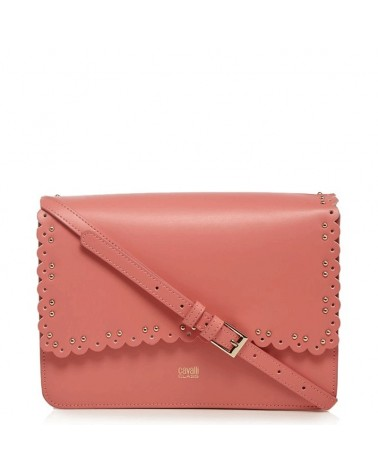 Shoulder bag ROBERTO CAVALLI CLASS coral Leather Leolace 003