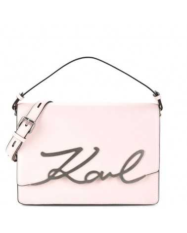 Karl Lagerfeld shoulder bag powder pink beige leather tasche 3049