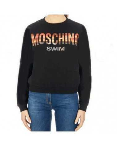 Moschino Swim Sweater Sweatshirt black with logo sun set