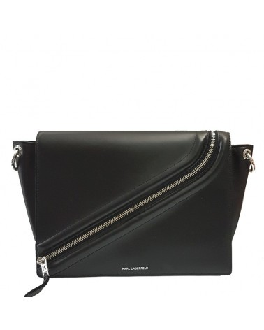 Karl Lagerfeld bag black and gold genuine leather حقيبة كتف 3068