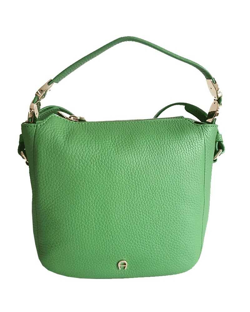 AIGNER Roma S handbag with shoulder strap green 132016