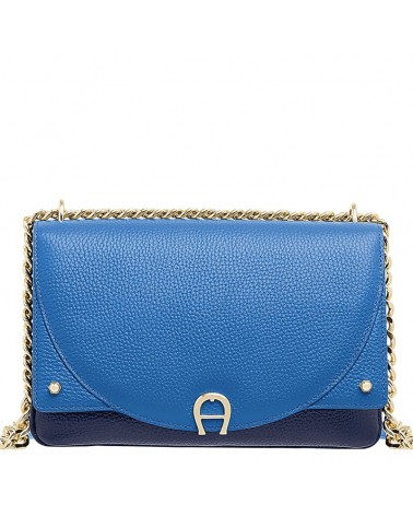 AIGNER Diadora S shoulder bag bicolor blue and navy 132046