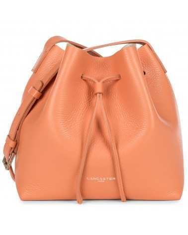Lancaster Paris Medium bucket bag soft genuine leather orange tasche 470-14