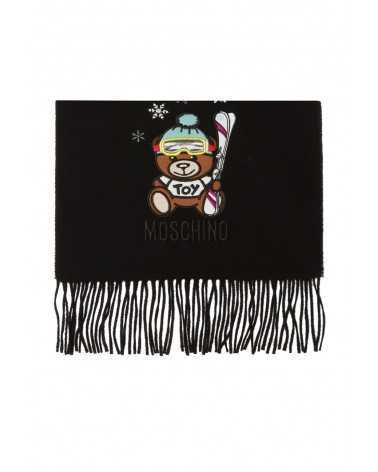 Moschino long wool scarf black 5293
