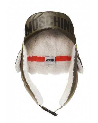 MOSCHINO warm hat with ear flaps green 5244