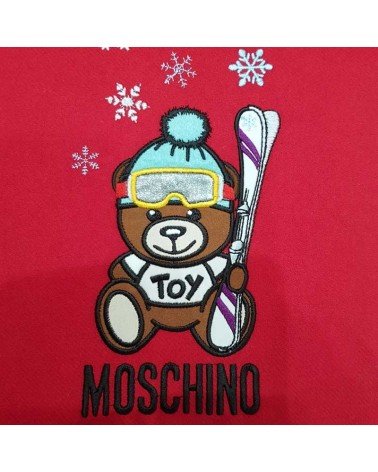 Moschino long wool scarf red 5317