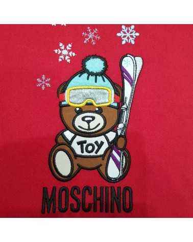 Moschino long wool scarf red toy Teddy bear 5317