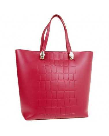 Tote bag ROBERTO CAVALLI CLASS red genuine leather panthera 007